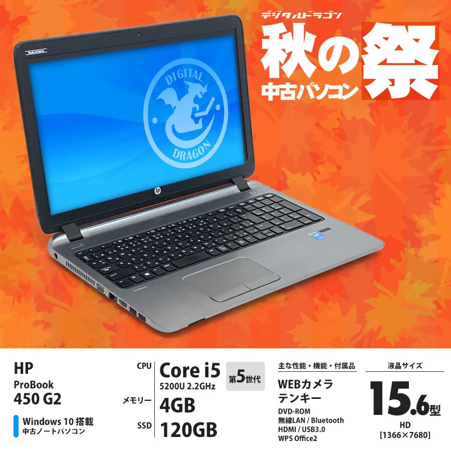 中古パソコン HP ProBook 450 G2